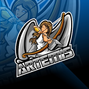 Artemis esport maskottchen logo design