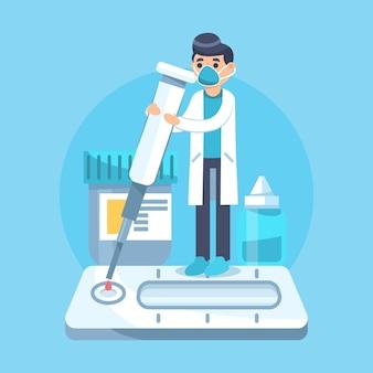 Arten der entwicklung von coronavirus-tests