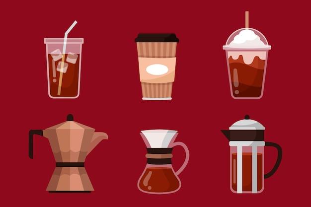 Arten von aromatischem kaffee