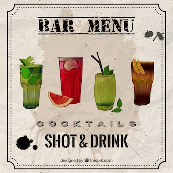 Arten von cocktails pack