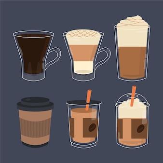 Arten von kaffeeset