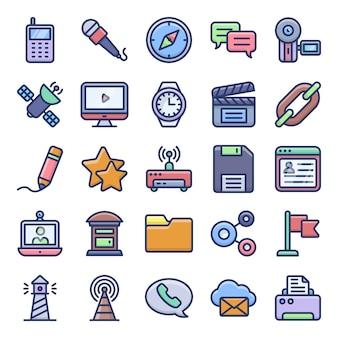 Arten von kommunikations-icons