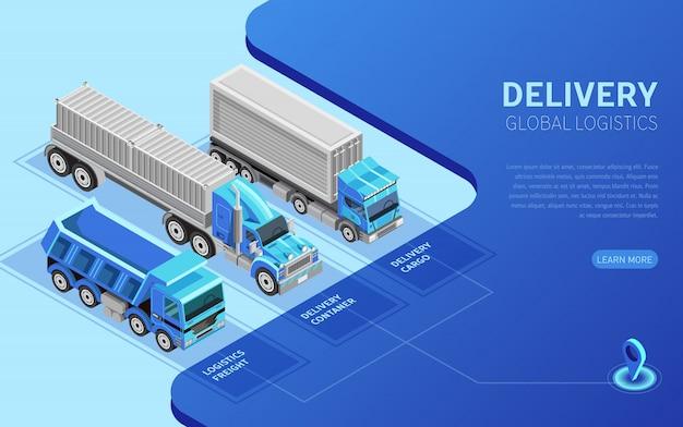 Arten von lastwagen für die website