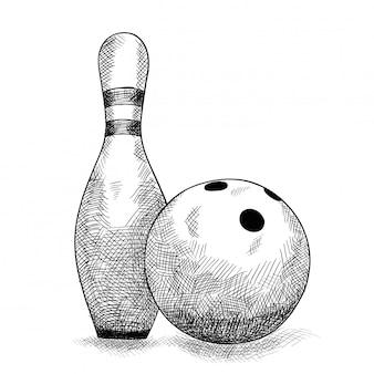 Artikel für bowlingkugel und kegel.