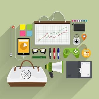 Artikel lebensstil und marketing von oben nach plattform und longshadow