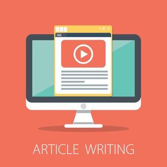 Artikel schreiben design-konzept