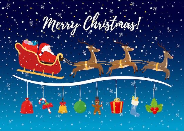 Сartoon weihnachtshintergrund für anzeigenplakat.