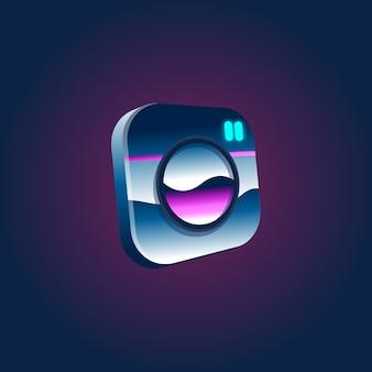 Artwork social logo illustration konzept
