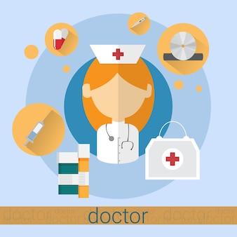 Arzt-frauen-krankenschwester icon