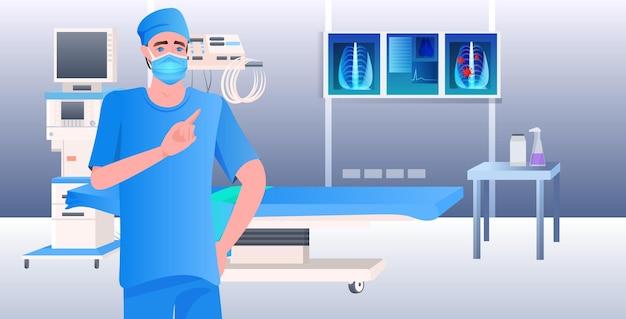 Arzt in maske untersucht röntgenviruspneumonie symptom coronavirus-zellen kämpfen gegen covid-19