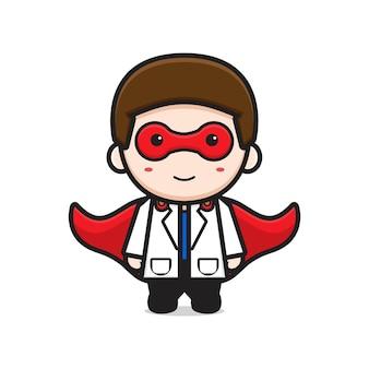 Arzt ist held cartoon-symbol-vektor-illustration. entwerfen sie isolierten flachen cartoon-stil
