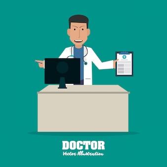 Arzt, medizin und gesundheitswesen konzept