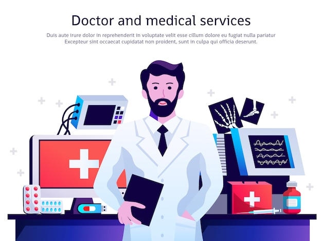 Arzt medizinische service poster