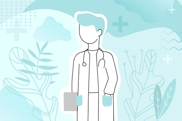 Arzt, medizinisches gesundheitswesen mit professionellem charakter