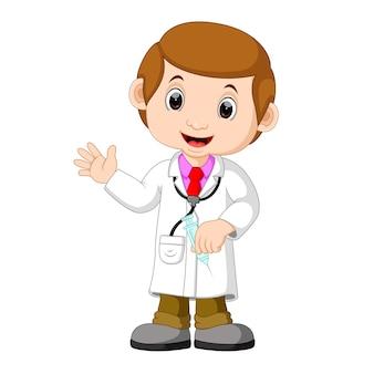 Arzt mit injektion
