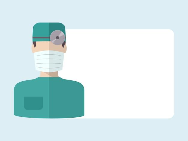 Arzt mit textfreiraum