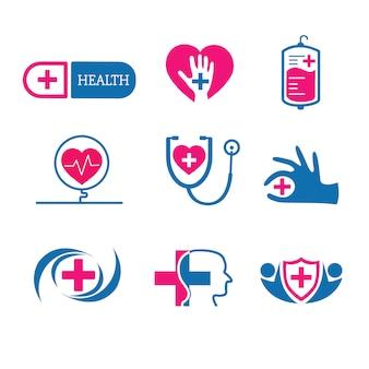 Ärztlicher Dienst Logos Vektor festgelegt