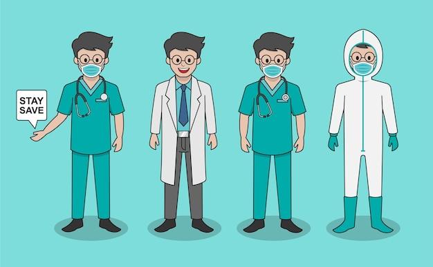 Arztzeichen-illustrationssatz