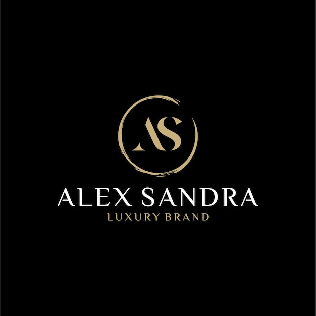 As logo monogramm anfangsbuchstaben design vorlage inspiration