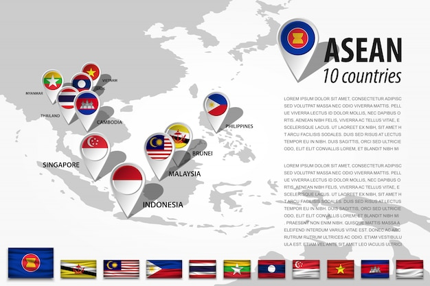 Asean- und gps-navigator-positionierungsstift