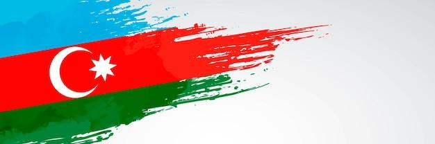 Aserbaidschan banner pinsel