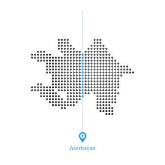 Aserbaidschan doled kartenentwurfsvektor