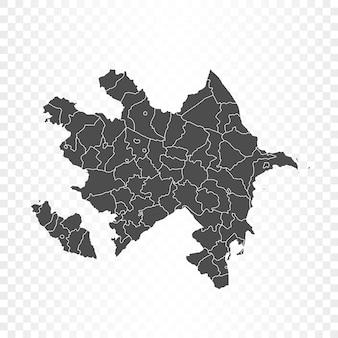 Aserbaidschan karte isoliert auf transparent