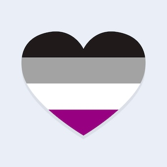 Asexuelle flagge in herzform