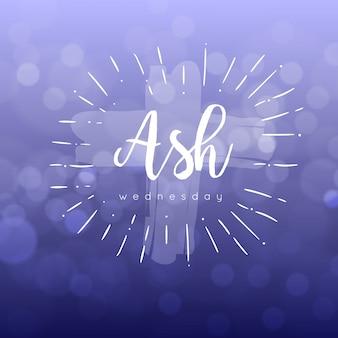 Ash mittwoch ereignis verschwommenes design