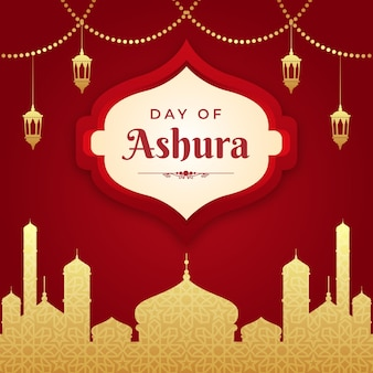 Ashura-abbildung mit farbverlauf