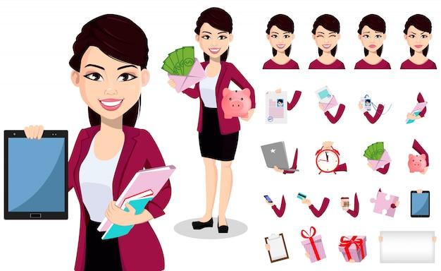 Asiatische geschäftsfrau in bürokleidung