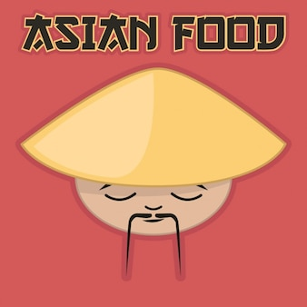 Asiatische küche hintergrund-design