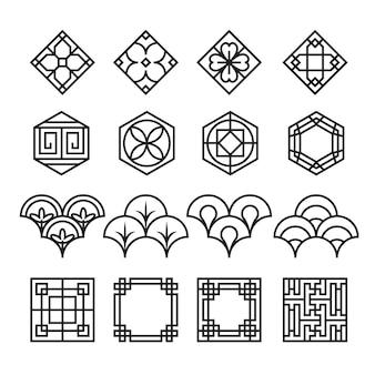 Asiatische ornament-symbol