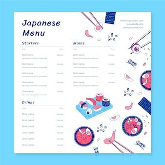 Asiatische speisekartenvorlage