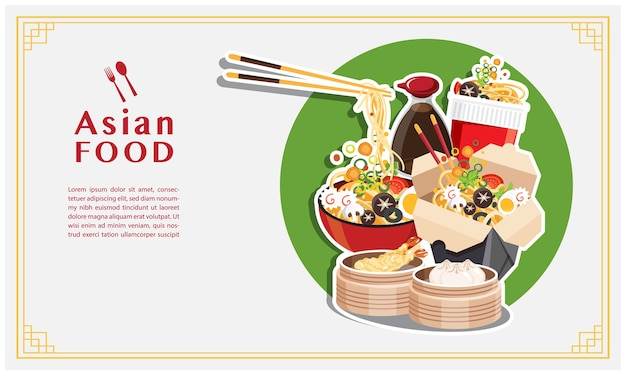 Asiatisches essen, nudelsuppe, take away box, japanische ramen on a bowl,