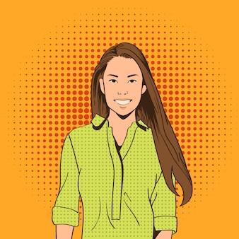 Asiatisches frauen-lächeln