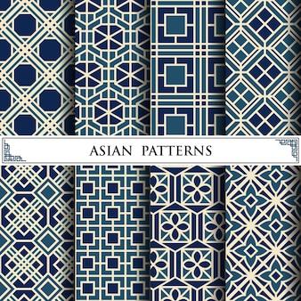 Asiatisches vektormuster für webseitenhintergrund
