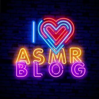 Asmr neon text