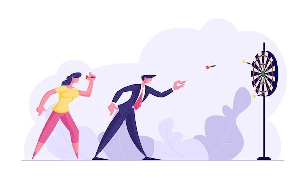 Aspirational business people mission achievement und unternehmenswettbewerb