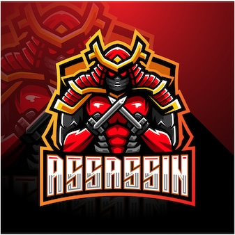 Assassin esport maskottchen-logo