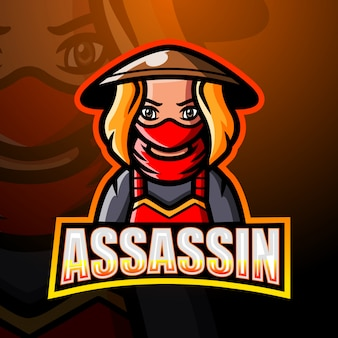 Assassine maskottchen esport illustration