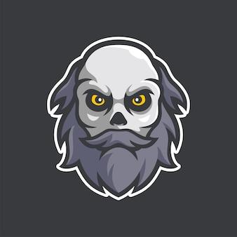 Assassinen-maskottchen e-sport-logo-charakter