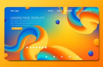 Astract-Hintergrunddesign. Zielseitenvorlage