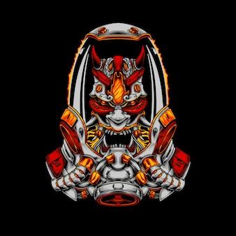 Astro raijin die japanische mythische illustration