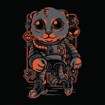 Astro style cat breeds illustration