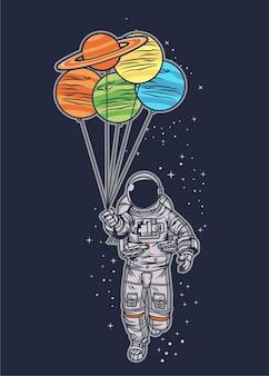 Astronaut ballon