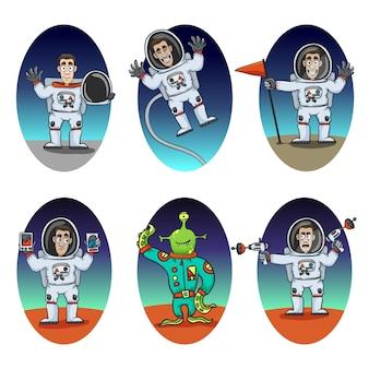 Astronaut emotions set