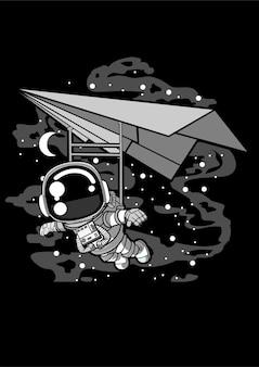 Astronaut fying