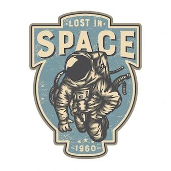Astronaut im weltraum verloren