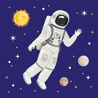 Astronaut im weltraum.
